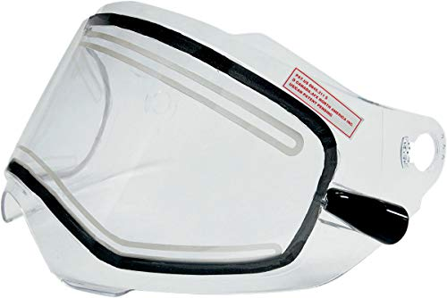 (AFX AMPD Electric Dual-Lens Shield with Cords for FX-39 Dual Sport Helmet - Clear 0130-0460)