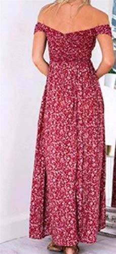 étnico Mujeres tamaño del del de Color de elástica de Superior la Rojo Medio Vestido Las de Sexybaby la de Club impresión Fiesta Cintura Haokan Tubo PqxXgUnwt