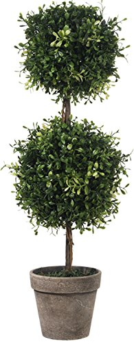 RAZ Imports Boxwood Double Ball Topiary - 24 inch - Boxwood Double Ball