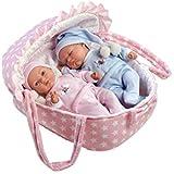 Ann Lauren Dolls 11 inch Twin Baby Dolls in Carrier