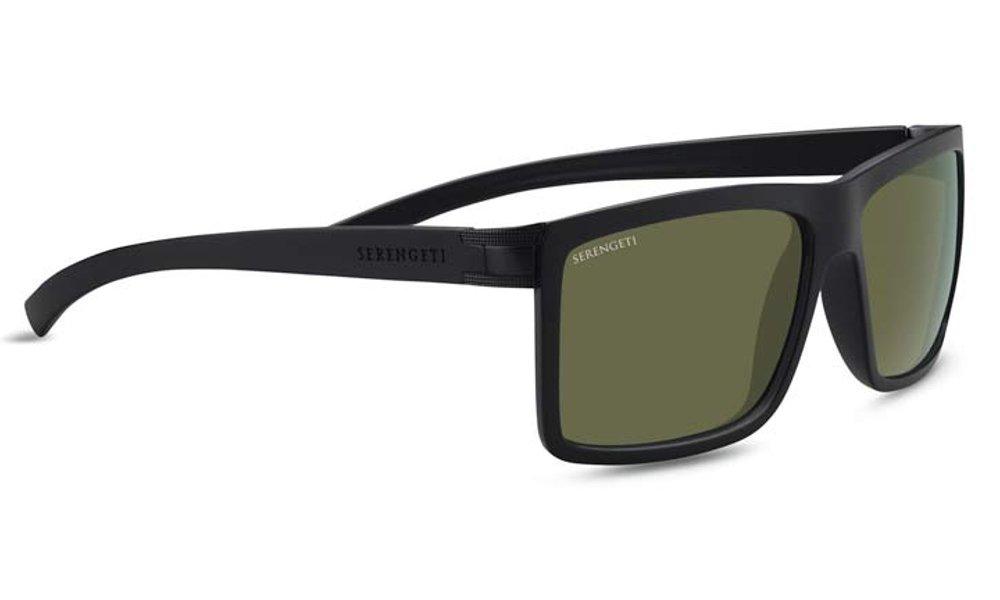 Serengeti Unisex's Brera Large Sunglasses Lenses Polarised 555 Nm, Sanded Satin Black, L 8582