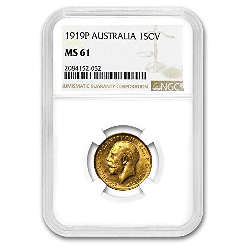 1919 AU P Australia Gold Sovereign George V MS-61 NGC Gold MS-61 NGC (Set Coin Dragon Gold)
