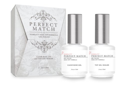 LeChat Perfect Match DUAL SET Soak Off Gel Polish Base Gel &