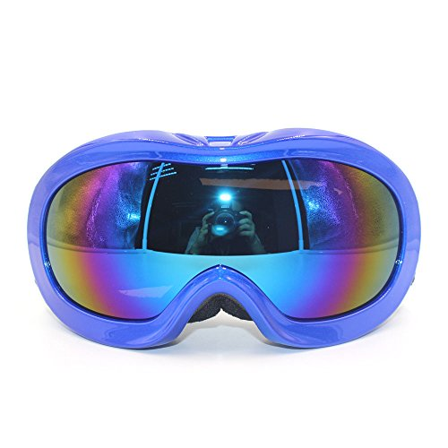 Kids UV Protection Anti-fog Ski SnowBoard Skate Goggles, Wide angle Children Dual-Layer Lens Skiing Goggles - Prescription Children's Ski Goggles