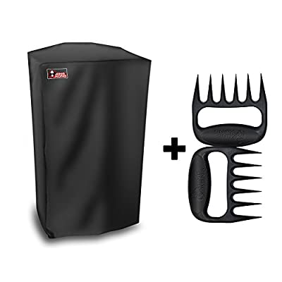 Kingkong 30-Inch Electric Smoker Cover Protects Electric Smoker From Dust and Dirty Including BBQ Meat Handler Forks from Kingkong Inc.