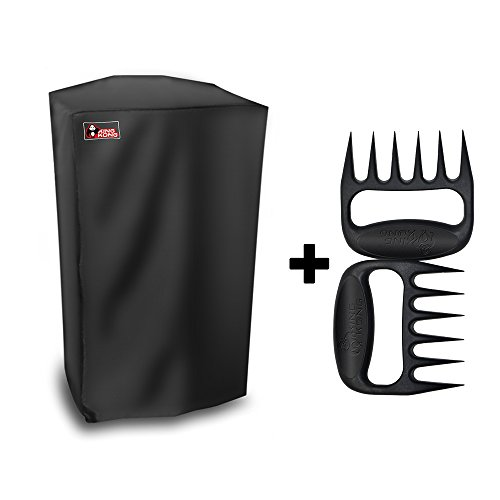 Kingkong 30-Inch Electric Smoker Cover Protects Electric Smoker From Dust and Dirty Including BBQ Meat Handler Forks by King Kong