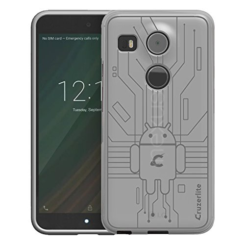 Nexus 5X Case, Cruzerlite Bugdroid Circuit Case Compatible for LG Nexus 5X - Clear (Best Lg Nexus 5x Case)