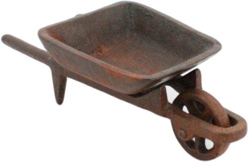 HomArt Cast Iron Decorative Wheelbarrow, Rust -