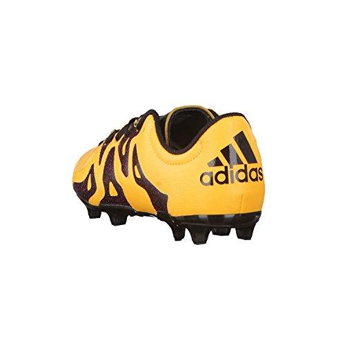 adidas X 15.3 FG/AG J Leather, Chaussures de Football Mixte Bébé Multicolore - Amarillo / Negro / Rosa (Dorsol / Negbas / Rosimp)