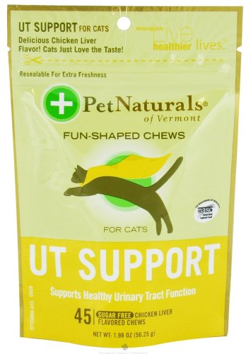 - Pet Naturals of Vermont Urinary Tract Support for Cats Soft Chews - 45 Ea, Pack of 2