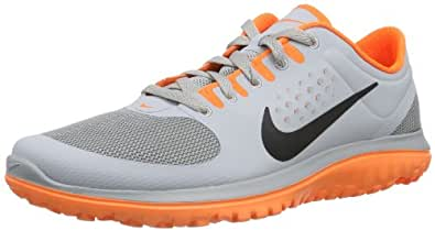 Nike Men's FS Lite Run Wolf Grey/Total Orange/Black 13 D - Medium