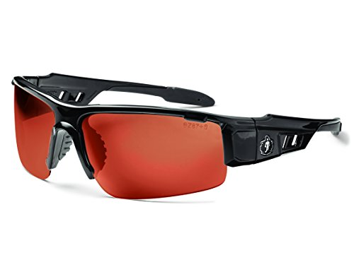 Skullerz Dagr Safety Sunglasses - Black Frame, Copper - Sunglasses Z87.1 Ansi