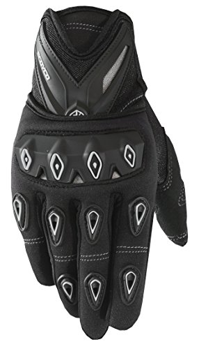 CRAZY AL'S SCOYCO MC10 Gloves Professional Motorcycle Motocross Racing Full Finger Gloves Sportswear Cycling Outdoor Sports Gloves Red Black Blue M/L/XL/XXL (L, Black)