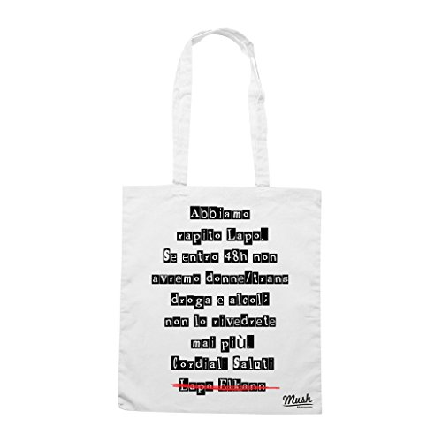 Borsa FIDEL CASTRO CUBA LIBRE - Bianca - POLITICA by Mush Dress Your Style