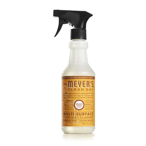 Mrs. Meyer's Clean Day Multi-Surface Everyday Cleaner, Orange Clove, 16 Fluid Ounce - Mrs Meyers Countertop Spray Lavender