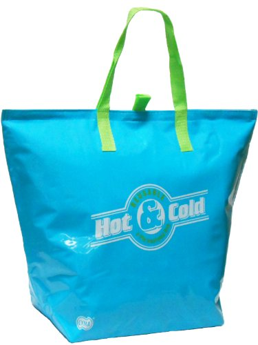 Duratech Flat - Large Insulated Tote (Aqua), Flat Bottom w/New Easy Open Pulltabs