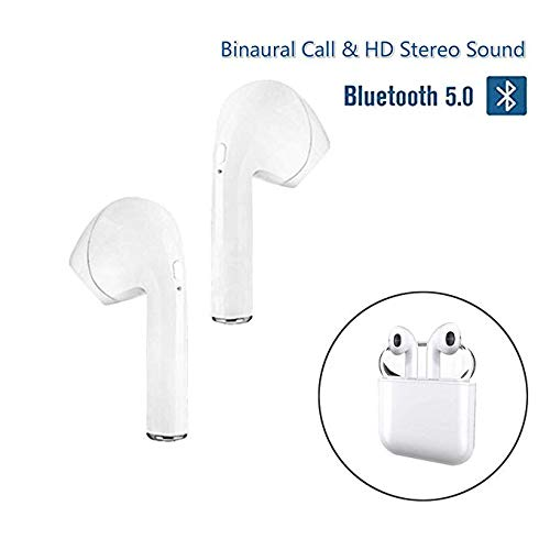 Auriculares Bluetooth, Auriculares Sin Cable I9-TWS Mini Auriculares Inalámbricos Deporte con Estuche de Carga Portátil para Huawei LG MI Nokia Samsung ...