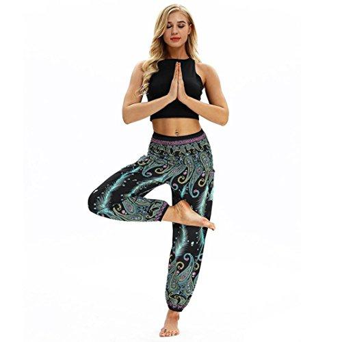 Vert Harem Pantalon Ray Imprim Automne Pantalon Sport Yoga Printemps Plume Femmes zahuihuiM PqnaZZ