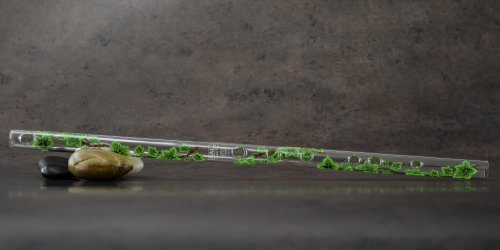Hall Crystal Flute 11704 - Inline Glass Flute in G - Green Ivy by Hall Crystal Flutes