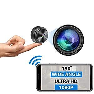 Flashandfocus.com 41aom1wXV7L._SS300_ Mini Spy Camera WiFi - 1080P HD - Premium Wireless Hidden Camera with Microphone - Small Nanny Cam with Night Vision…