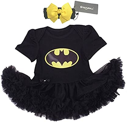 d73e0f58a Amazon.com: Baby Party Dress Infant Baby Cool Costume Newborn Girls Party  Dress Cosplay (S: 0-3 months): Baby