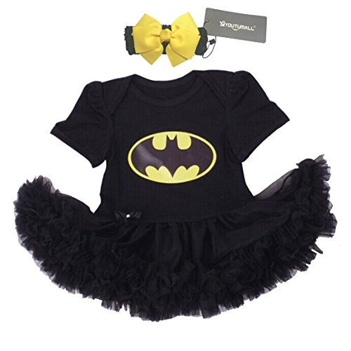 Baby Party Dress Infant Baby Cool Costume Newborn Girls Party Dress Cosplay (S: 0-3 months) -