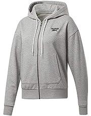 Reebok Identity Ribbed Trims Full Zipper Hooded Jacket for Women