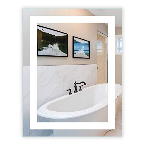 LED Front-Lighted Bathroom Vanity Mirror: 28