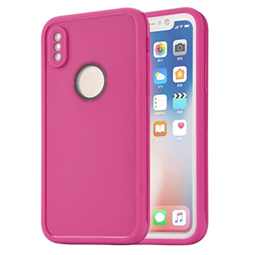 Price comparison product image DDLBiz Phone Case For For iPhone X, Waterproof Shockproof DustProof Case Cover For Iphone X (Hot Pink)