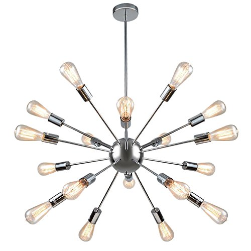 NEUTYPE Sputnik Chandelier 18-Lights Vintage Pendant Lights High Quality Chrome Lighting Fixture (Multi Pendant Light Fixture)