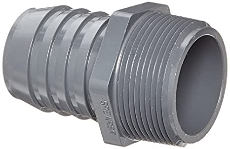 Adapter 1-1//2 NPT Male x 1-1//2 Barbed 1-1//2 NPT Male x 1-1//2 Barbed Banjo Corporation Banjo HB150 Polypropylene Hose Fitting
