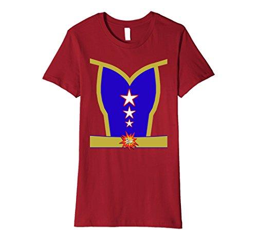 Ideas Superheroes Costumes Female (Womens Female Superhero Halloween Costume Premium T-shirt XL)