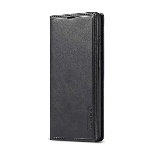 TemUnique Leather Cover Compatible with Samsung Galaxy Note 10 Plus, Premium Black Wallet Case for Samsung Galaxy Note 10 Plus
