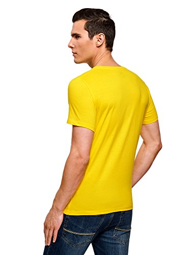Oodji Estival 5270p Jaune Ultra T shirt Imprimé Homme Avec 8SxvY8w