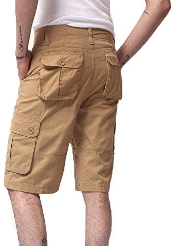 Lega Men's Loose Twill Cotton Cargo Shorts