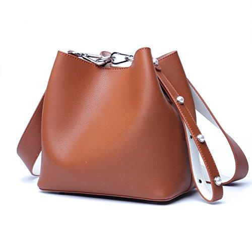 centro comercial de moda marrón Medium Medium Medium Easy Go Shopping Bolsos de hombro de las mujeres Bolsos de cubo de agua salvaje Bolsos de la correa de mano de hombro  autentico en linea