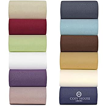 cosy house bamboo bed sheets set of 4 ultra soft u0026 cool viscose rayon u0026 microfiber blend bedding with deep pocket fitted sheet - Comphy Sheets