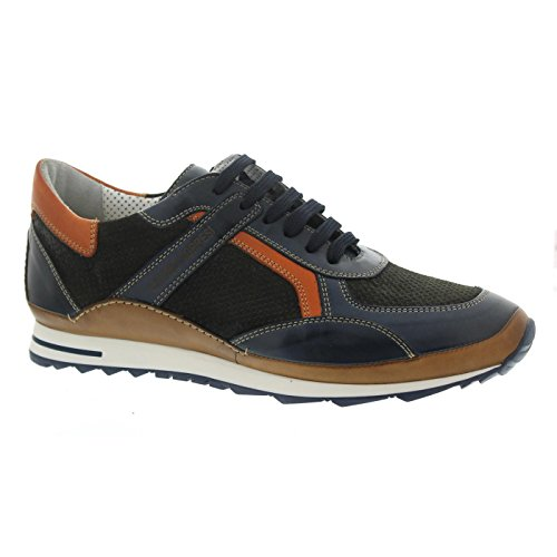 Galizio Torresi Sneaker, Glattleder/Nubuk/, Blue/Marrone, Wechselfußbett 413164A Blau - Braun