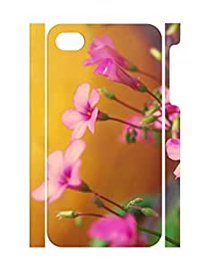 Cool Design Classy Flower Print Super Smooth Iphone 4 4S Phone Back Case