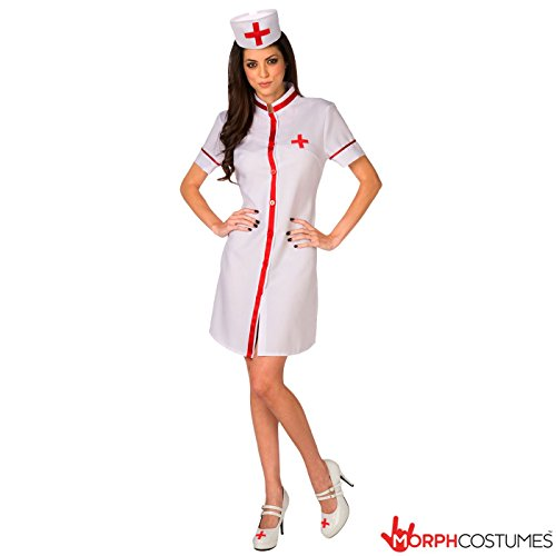 [Sexy Womens Nurse Hospital Doctor Costume - 5 Piece Quality Costume] (Fantastic 4 Costume Uk)