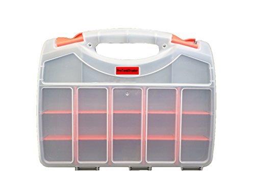 Organizador de almacenamiento de doble cara con 36 compartimentos, se utiliza como caja de herramientas/caja de...