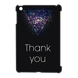 Thank you Custom 3D Cover Case for iPad Mini, Custom Thank you 3D Cell Phone Case