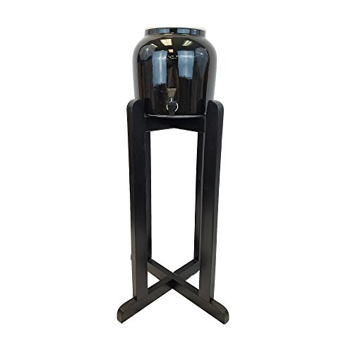 All Black Everything - All Black Porcelain Water Crock Dispenser with 27