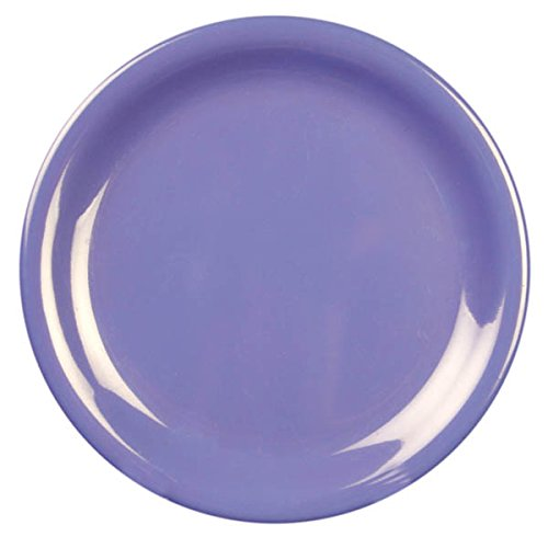 Yanco MS-106BU Mile Stone Narrow Rim Round Plate Bule Color 6.5 Diameter Pack of 48 Melamine