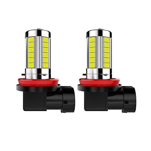 Extreme Bright H11 LED Fog Lights High Power H11 6000K White H11 LED Bulb Compatible with H11LL H8LL H8 H16 H11 Fog Lights Lamp Bulbs (Pack of 2Pcs)