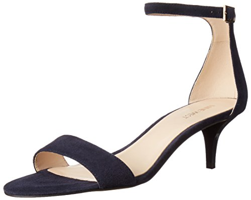 Image of Nine West Women's Leisa Leather Heeled Dress Sandal