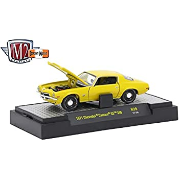 M2 Machines 1971 Chevrolet Camaro SS 396 (Placer Gold Metallic) - Detroit Muscle Release 39 2017 Castline Premium Edition 1:64 Scale Die-Cast Vehicle (R39 ...