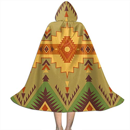 Ywan781jie Native Southwest American Indian Aztec Navajo Halloween Costumes Witch Wizard Cloak with Hat Kids Wizard Cape Child's Costume Party Cosplay Cape Role Play Dress Up for Kids Boys Girls