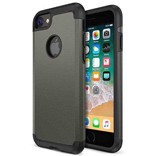 Gunmetal Frame (iPhone 8 Case, Trianium Protanium Apple iPhone 8 Case (2017) with Heavy Duty Protection / Shock Absorption / Dual Layer TPU + Rigid Back Armor / Scratch Resistant / Reinforced Corner Frame -Gunmetal)