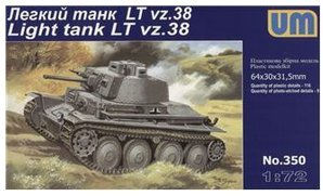 (Plastic model Praga LT vz.38 German light tank WWII 1/72 UM)